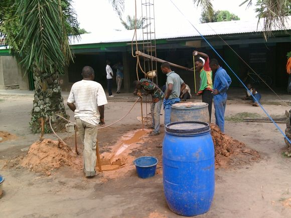 Day 3, Water Well Drilling in Kananga